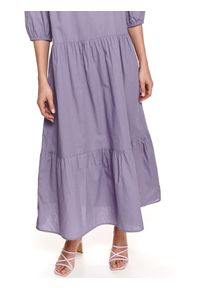 Fioletowa sukienka TOP SECRET koszulowa