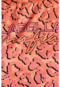 Różowa bluzka LABELLAMAFIA na co dzień, casualowa