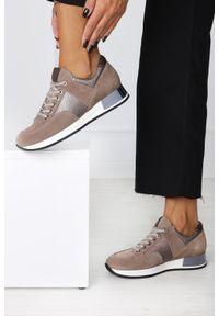 Beżowe buty sportowe Kati