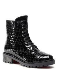 Czarne buty trekkingowe sagan z cholewką