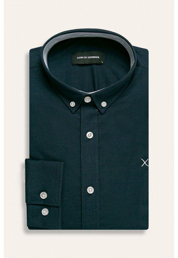 Niebieska koszula Clean Cut Copenhagen elegancka, długa, na co dzień, button down