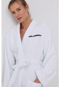 Karl Lagerfeld - Szlafrok. Kolor: biały. Materiał: włókno, dzianina