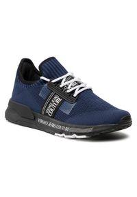 Versace Jeans Couture - Sneakersy VERSACE JEANS COUTURE - E0YWASA7 71930 239. Kolor: niebieski. Materiał: materiał. Szerokość cholewki: normalna