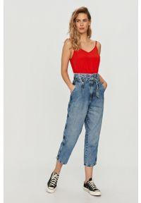 Czerwony top Tommy Jeans casualowy, na co dzień