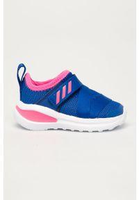 Niebieskie buty sportowe adidas Performance Adidas Cloudfoam, z okrągłym noskiem, z cholewką
