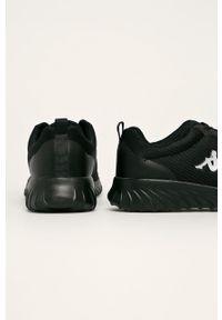 Czarne sneakersy Kappa z okrągłym noskiem, z cholewką