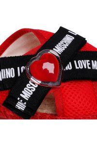 Czerwone klapki Love Moschino