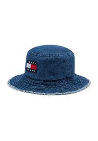 Tommy Jeans - Bucket TOMMY JEANS - Heritage Denim AW0AW10184 0GZ. Kolor: niebieski. Materiał: poliester, bawełna, wiskoza, materiał