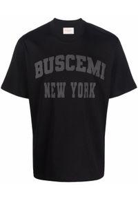 BUSCEMI - Czarny t-shirt z logo. Kolor: czarny. Materiał: bawełna. Wzór: napisy