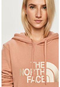 Różowa bluza The North Face casualowa, z kapturem, na co dzień, z aplikacjami #6