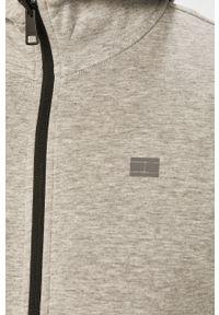Szara bluza rozpinana TOMMY HILFIGER z kapturem, casualowa