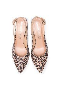 Brązowe sandały Baldaccini casualowe, z motywem zwierzęcym, na co dzień