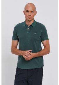 Marc O'Polo - Polo. Typ kołnierza: polo. Kolor: zielony. Materiał: bawełna, materiał. Długość: krótkie