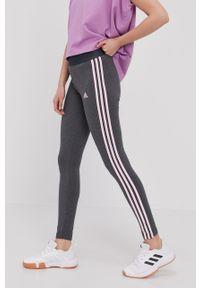 Szare legginsy Adidas gładkie
