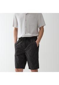 Reserved - Bawełniane szorty - Szary. Kolor: szary. Materiał: bawełna
