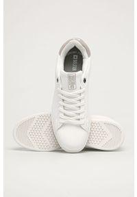 Białe sneakersy Big-Star na sznurówki, z cholewką