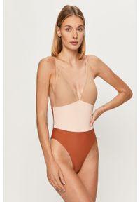 Beżowy strój kąpielowy Vero Moda z odpinanymi ramiączkami