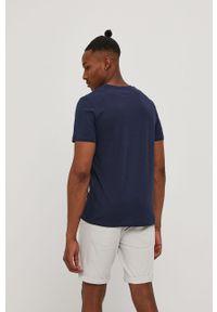 Niebieski t-shirt Premium by Jack&Jones casualowy, na co dzień, z nadrukiem
