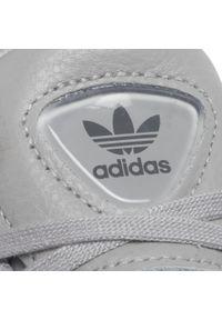 Szare półbuty Adidas na co dzień, casualowe