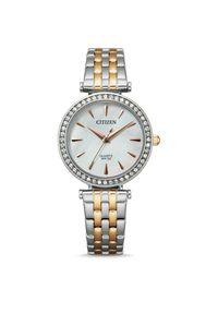 CITIZEN ZEGAREK Elegance ER0216-59D. Rodzaj zegarka: analogowe. Materiał: materiał. Styl: klasyczny, elegancki