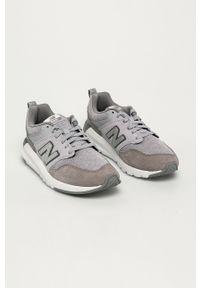 Szare buty sportowe New Balance na sznurówki, na obcasie, na średnim obcasie