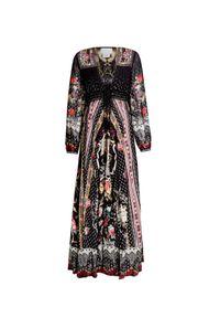 Camilla - Sukienka CAMILLA. Materiał: jedwab. Wzór: nadruk, haft, aplikacja, kwiaty. Długość: maxi
