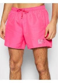 EA7 Emporio Armani Szorty kąpielowe 902000 CC721 04171 Różowy Regular Fit. Kolor: różowy