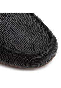 Czarne mokasyny Aldo eleganckie, z aplikacjami