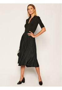 Czarna sukienka koktajlowa Sportmax Code wizytowa