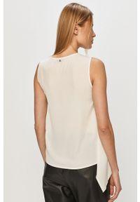 Biała bluzka Trussardi Jeans bez rękawów, casualowa, na co dzień