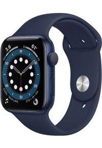 APPLE - Smartwatch Apple Watch Series 6 GPS 44mm Blue Alu Navy Sport Granatowy (M00J3WB/A). Rodzaj zegarka: smartwatch. Kolor: niebieski. Styl: sportowy