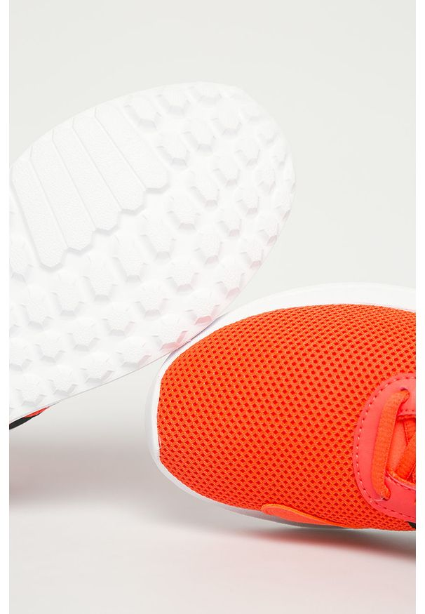 Czerwone buty sportowe adidas Originals z cholewką, na sznurówki