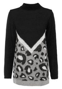Szary sweter bonprix na jesień, melanż
