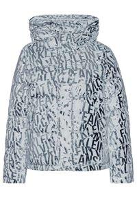 Srebrna kurtka puchowa Calvin Klein Jeans