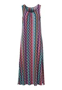 Cellbes Dżersejowa sukienka ze wzorem kolorowy female ze wzorem 38/40. Materiał: jersey. Wzór: kolorowy. Typ sukienki: dopasowane