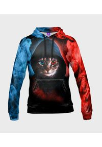 MegaKoszulki - Bluza damska fullprint z kapturem Hacker Cat. Typ kołnierza: kaptur. Materiał: dresówka, dzianina