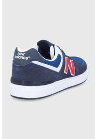 New Balance - Buty AM574ANR. Nosek buta: okrągły. Zapięcie: sznurówki. Kolor: niebieski. Materiał: guma. Model: New Balance 574