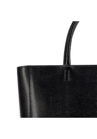 Czarny kuferek Wittchen elegancki, skórzany, z motywem zwierzęcym