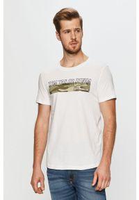 Biały t-shirt Tom Tailor Denim na co dzień, casualowy