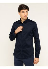 Niebieska koszula biznesowa Armani Exchange