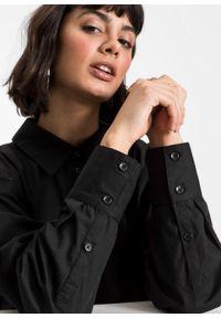 Długa bluzka z ozdobnym sznurowaniem z tyłu bonprix czarny. Typ kołnierza: kołnierzyk koszulowy. Kolor: czarny. Długość: długie #3