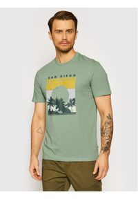 Only & Sons - ONLY & SONS T-Shirt Anthony 22019297 Zielony Regular Fit. Kolor: zielony
