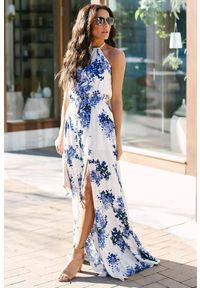 Wielokolorowa długa sukienka IVET na lato