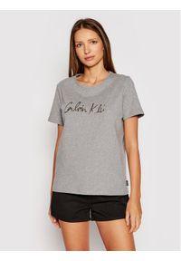 Calvin Klein T-Shirt Signature K20K202870 Szary Regular Fit. Kolor: szary