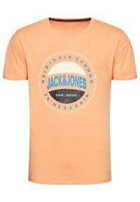 Pomarańczowy t-shirt Jack & Jones