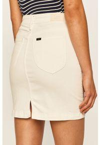 Biała spódnica Lee casualowa, na co dzień