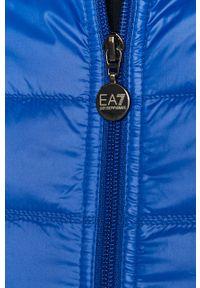 Niebieska kamizelka EA7 Emporio Armani casualowa, bez kaptura