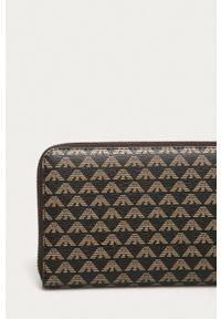 Emporio Armani - Portfel. Kolor: brązowy. Materiał: materiał
