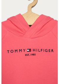 Różowa sukienka TOMMY HILFIGER casualowa, mini, na co dzień