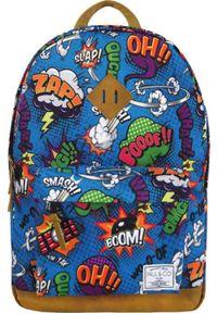 Paul&Co Plecak szkolny Pop Art niebieski. Kolor: niebieski